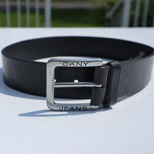 DNKY Black genuine leather belt